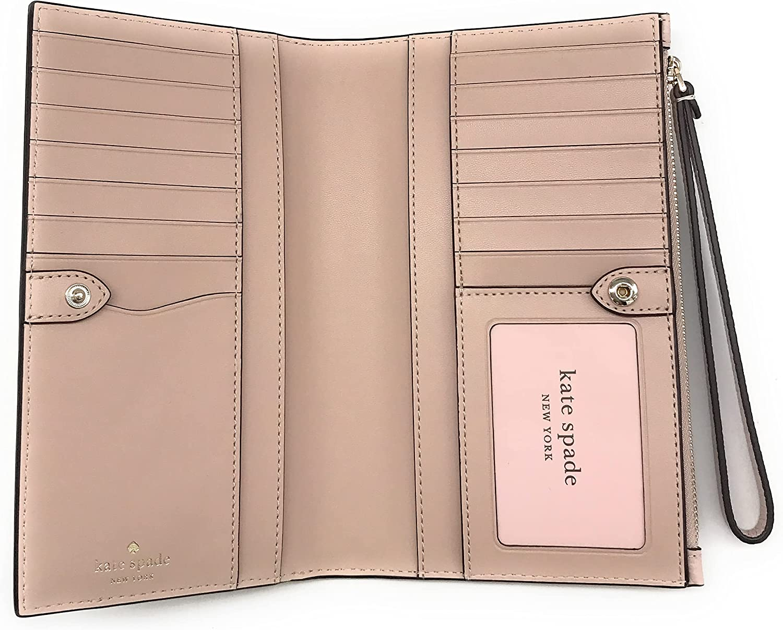 Kate Spade New York Leila Medium Pebbled Leather Phone Wallet Wristlet (Warm Beige)
