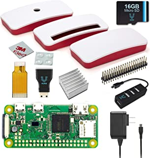 Raspberry Pi Zero W Complete Starter Kit--Official Case Edition--Includes Pi Zero W and 7 Essential Accessories