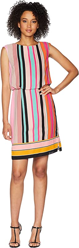 Fiesta Stripe Blouson Dress