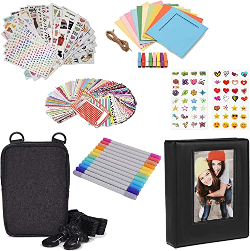 discount Zink Fun Deluxe Accessory kit for Instant 2x3 Photo 2021 Printing w/Photo outlet sale Album, Case, Stickers, Markers, Frames online sale