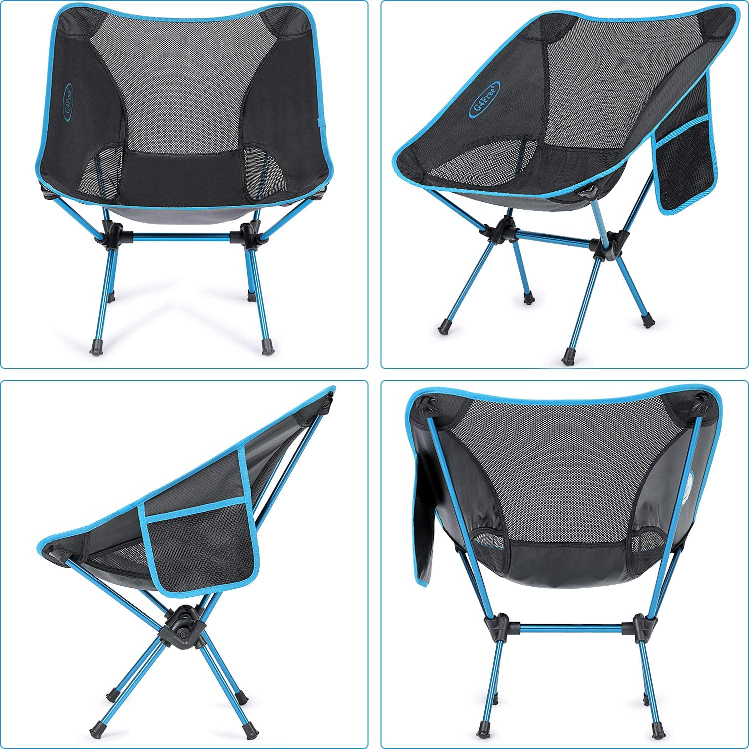 Camping Folding Compact Backpacking Chairs Heavy Duty Ultralight for Outdoor G4Free Upgraded Portable Camp Chair Hiking Travel Beach Picnic Festival