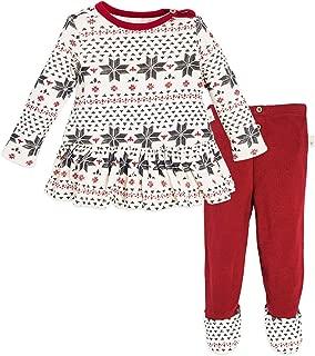 Baby Girls Top and Pant Set, Tunic and Leggings Bundle, 100% Organic Cotton