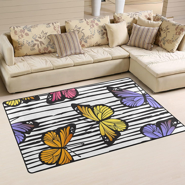 Cute Cartoon Butterflies Large Soft Now on sale Ru Playmat Many popular brands Area Rugs Nursery