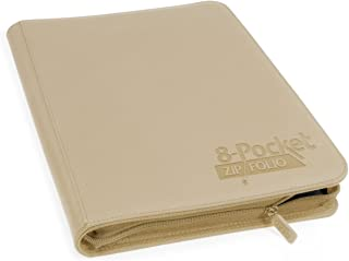 Ultimate Guard 8-Pocket QuadRow ZipFolio, XenoSkin, Sand