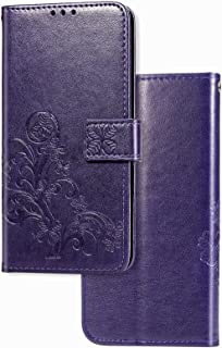 YukeTop Case for vivo V20 2021, PU Leather Flip Folio Wallet Cover, With Card Slots, Case Cover for vivo V20 2021.(Purple)