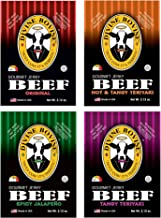 Beef Jerky - Gourmet Jerky Variety Pack | 4 Packs - Original, Tangy Teriyaki, Hot & Tangy Teriyaki, Spicy Jalapeno | Premium Gluten Free Flavors | A Low Carb High Protein Option
