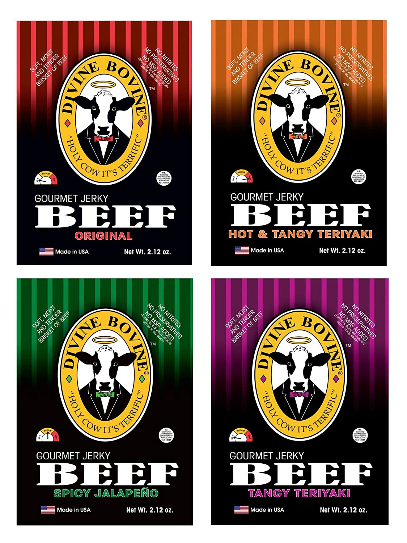 Beef Award-winning store Jerky Free shipping - Gourmet Variety Ta 4 Packs Original Pack