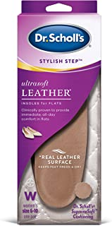 Dr. Scholl's Ultrasoft Leather Insoles for Flats (Women's 6-10) // All-Day Comfort with Massaging Gel plus a Real Leather ...