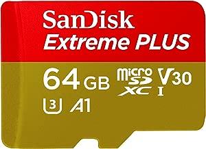 SanDisk Extreme PLUS 64GB microSDXC UHS-I Card - SDSQXBG-064G-GN6MA