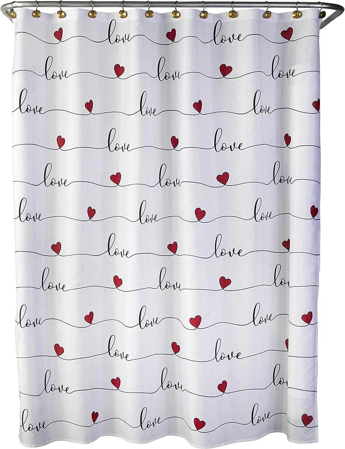 All items free shipping SKL HOME by Saturday Save money Knight Ltd. Mul Shower Script Curtain Love