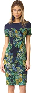 Black Halo Women's Marlowe Printed Jacquard Sheath Dress