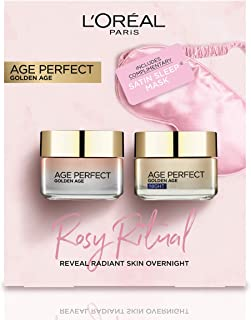 L'OREAL PARIS Age Perfect Rosy Ritual Skincare Day Cream + Night Cream + Eye Mask Gift Set For Her