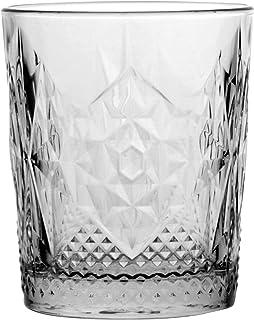 Bormioli Rocco 666218 Stone Whiskyglas, 390ml, Glas, transparent, 6 Stück