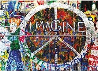 Doppelganger33LTD IMAGINE JOHN LENNON PEACE GRAFFITI GIANT ART PRINT HOME DECOR NEW POSTER OZ2104