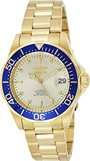 Invicta Men's Gold Dial Stainless Steel Band Watch - 9743