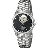 Edox 85013 3 NIN Grand Ocean Analog Display Swiss Automatic Silver-Tone Women's Watch