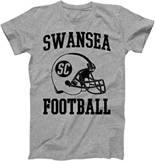 Vintage Football City Swansea Shirt for State South Carolina with SC on Retro Helmet Style