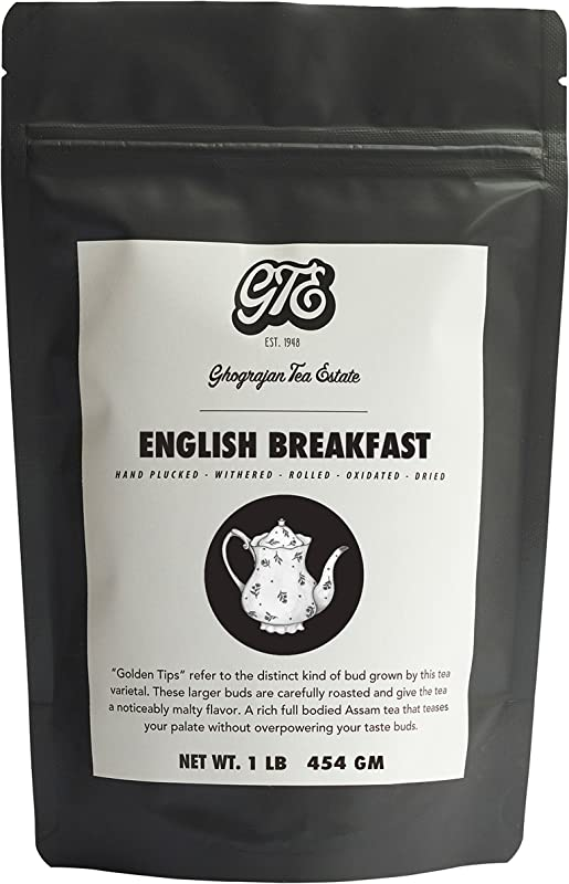 English Breakfast Loose Leaf Black Tea 200 Servings 2019 Harvest Strong Full Bodied Whole Leaf Assam Black Tea Farm2Cup From 5th Generation Tea Farm Bulk Pack 1 Pound Sealable Pouch