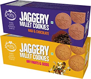 Early Foods - Assorted Pack of 2 - Organic Dry Fruit & Ragi Choco Jaggery Cookies X 2