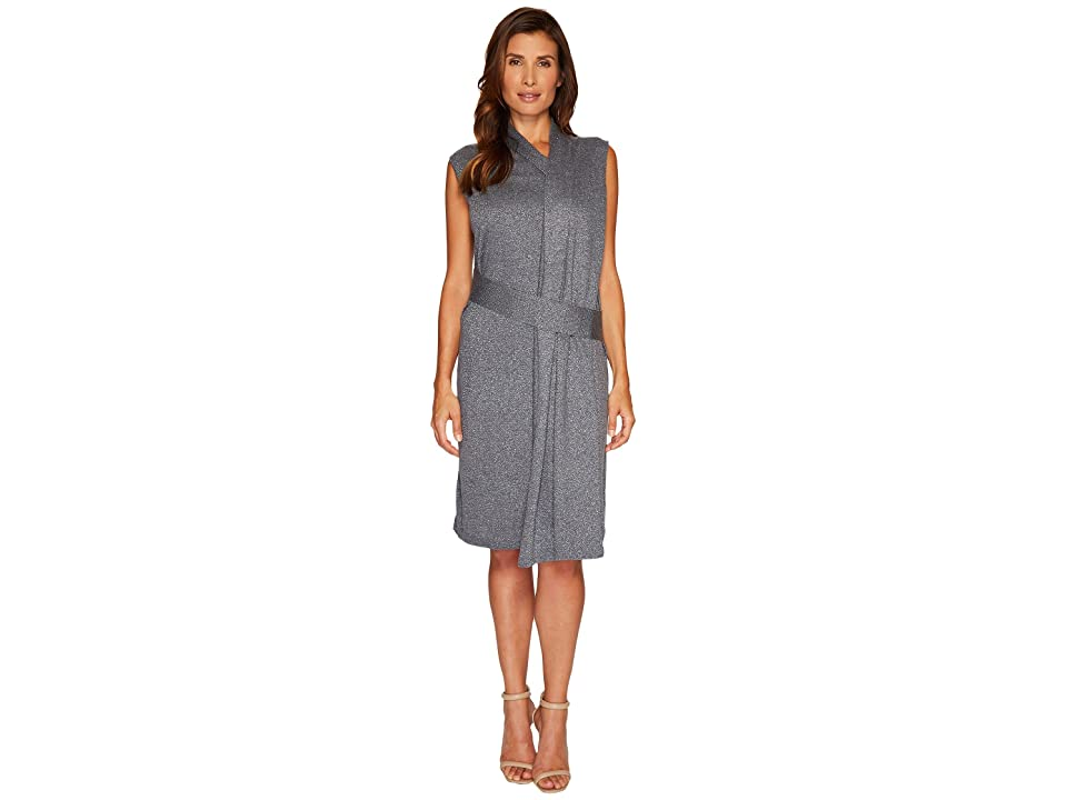 NIC+ZOE Draped Wrap Dress (Smoke) Women