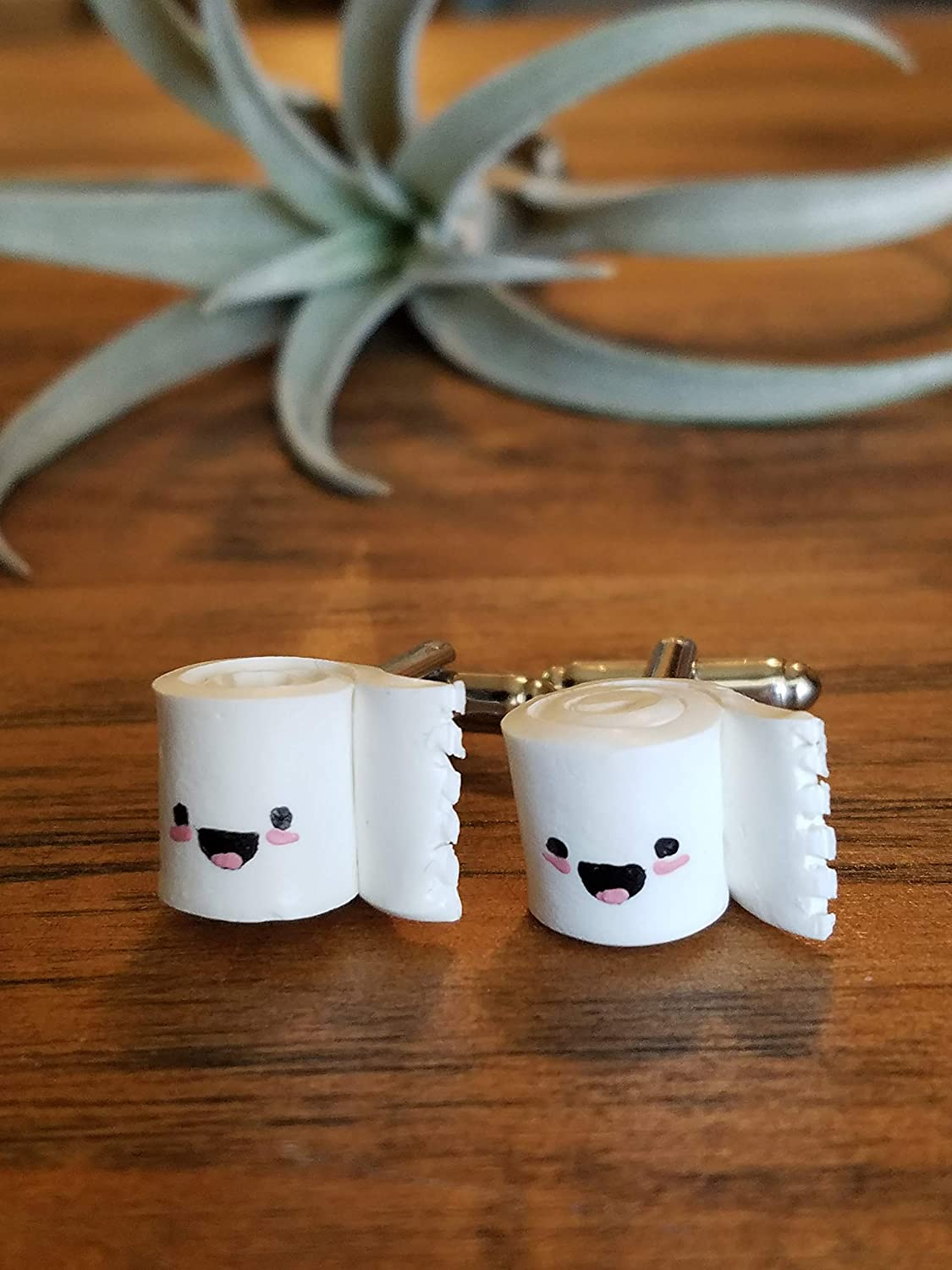 Happy Toilet Paper Cufflinks - CDC Don't miss the campaign 2021new shipping free shipping Foundation Profits go to