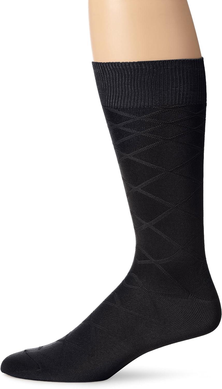 Perry Ellis Men's Microfiber Luxury Diamond Crew Sock