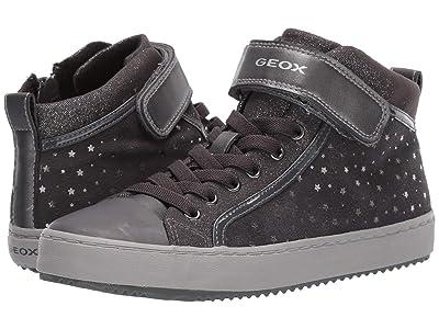Geox Kids Jr Kalispera 18 (Big Kid) (Black/Charcoal 2) Girls Shoes