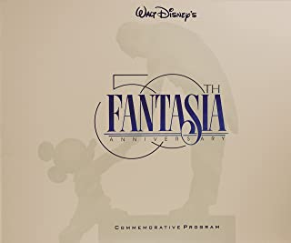 1990 - Walt Disney's - Fantasia : 50th Anniversary Commemorative Program - Out of Print - New - Mint - Rare - Collectible