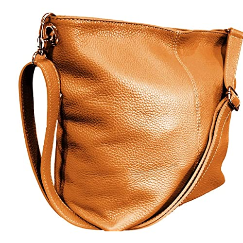 ba0eae73de1b Handbag Bliss Genuine Italian Soft Leather Cross Body Shoulder Slouch Bag  Handbag With Cotton Like Lining