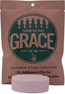 2% Pyrithione Zinc Shampoo Bar with Shea Butter by Grace of Me (4 Oz) (Sweet Vanilla & Cinnamon)