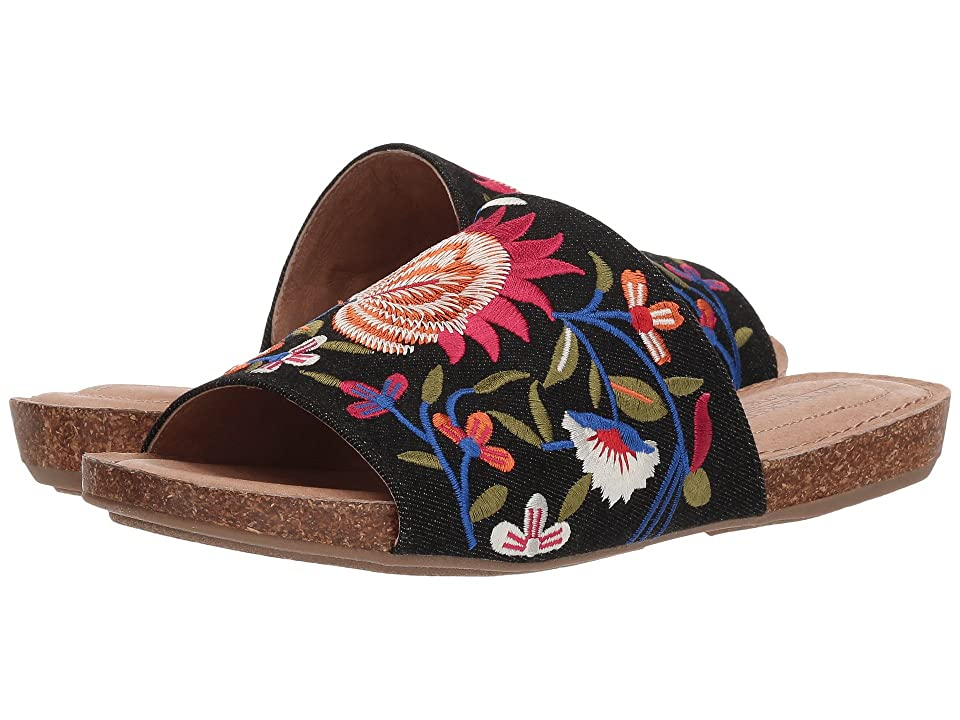 Me Too Nella (Black Floral Embroidered Denim) Women