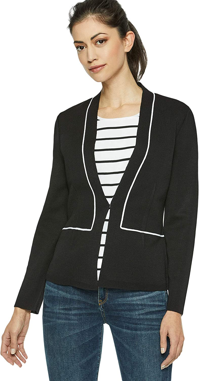 Misook Womens Knit Blazer Professional Business Women Casual Clothing At Amazon Women S Clothing Store