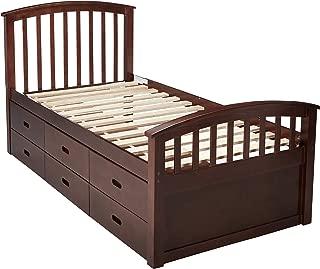 DONCO KIDS 425CP 6 Drawer Storage Bed, Twin, Dark Cappuccino
