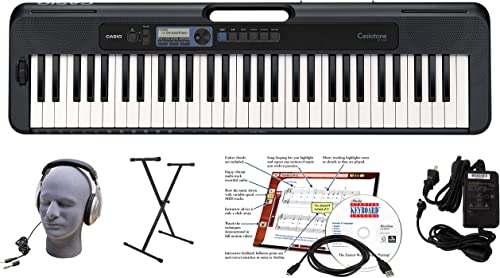 Casio CT-S300 61-Key Premium Keyboard Package with Headphones, Stand, Power Supply, 6-Foot USB Cable and eMedia Instr...