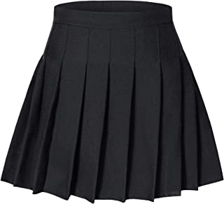 Tremour Little& Big Girls Uniform Skort Adjustable Waist Pleated Skirt 2 Years - 14 Years