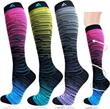 1/3/7 Pairs Compression Socks for Women&Men (20-30mmHg)- Best for Running, Travel,Cycling,Pregnant,Nurse, Edema