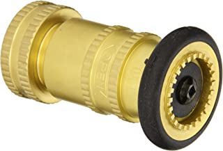 Moon 7171-1511 Brass Fire Hose Nozzle, Industrial Fog, 85 gpm, 1-1/2