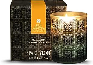 Spa Ceylon Luxury Ayurveda Sandal Vetiver Aromaveda Natural Candle - (3 Inch x 3.5 Inch x 3.2 Inch )