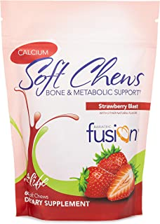 Bariatric Fusion Calcium Citrate 500mg & Energy Soft Chews Strawberry Blast Flavor for Bariatric Surgery Patients Includin...