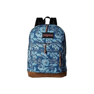 JanSport Right Pack Expressions (Batik Blue Denim) Backpack Bags