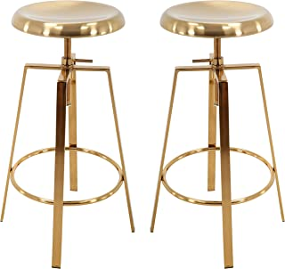 white and rose gold bar stools
