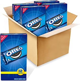 OREO Chocolate Sandwich Cookies, 12 - 2 oz Snack Packs (4 Boxes)