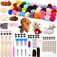 TOAOB 100pcs Blue Glass Eyes Kits 3mm to 12mm Assorted Sizes for Crafts Needle Felting Bears Dolls Decoys Sewing