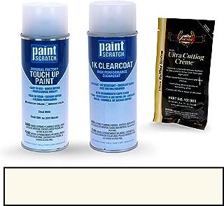 PAINTSCRATCH Cloud White QM1 for 2015 Nissan Sentra - Touch Up Paint Spray Can Kit - Original Factory OEM Automotive Paint - Color Match Guaranteed