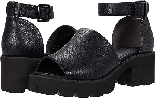 Black V Leather