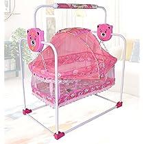 Flipzon New Born Baby Swing Cradle with Mosquito Net (Pink)…
