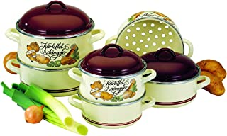 ELO 99918 Beige Enamel 3.2-Quart Asparagus Pot Steamer