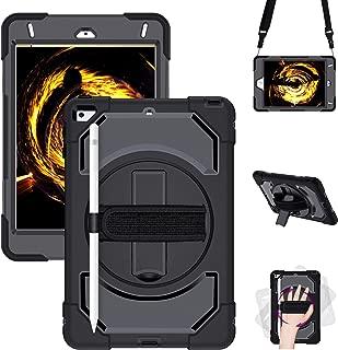 iPad Mini 5 Case 2019,iPad Mini 4 2015 Case, GEEKSDOM Shockproof,360 Degree Swivel Foldable Kickstand,Adjustable Shoulder Strip&[Pencil Holder] Hand Strap for iPad Mini 5th/4th Generation 7.9