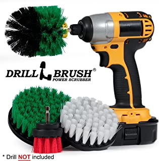 Cleaning Supplies - Drill Brush - Kitchen - Oven - Stove - Cast Iron Skillet - Dish Brush - Bathroom Accessories - Scrub Brush - Shower Cleaner -Grout Cleaner - Spin Brush - Bird Bath - Garden Statues