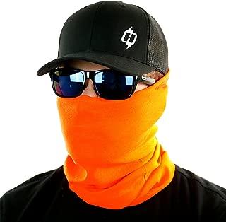 Blaze Orange High Viz Seamless UPF-30 High Performance Moisture Wicking Bandana Made of 100% Polyester Microfiber